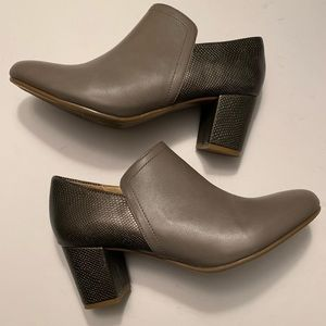 "Naturalizer ""Misha"" gray & snakeskin ankle boots"